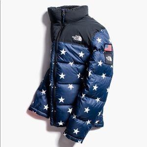 The North Face USA Star Print Nuptse Puffer Jacket